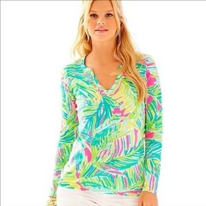 Lilly Pulitzer Kayleigh Top in Tropical Storm